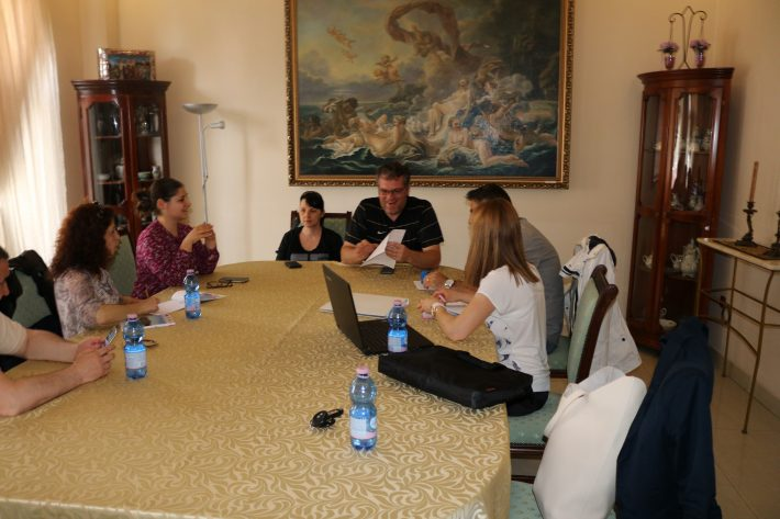 The fifth meeting of the project team in Craiova